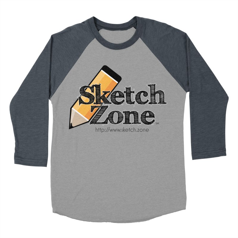 Throwback Sketch Zone Logo Men's Baseball Triblend T-Shirt by Coconut Justice's Artist Shop