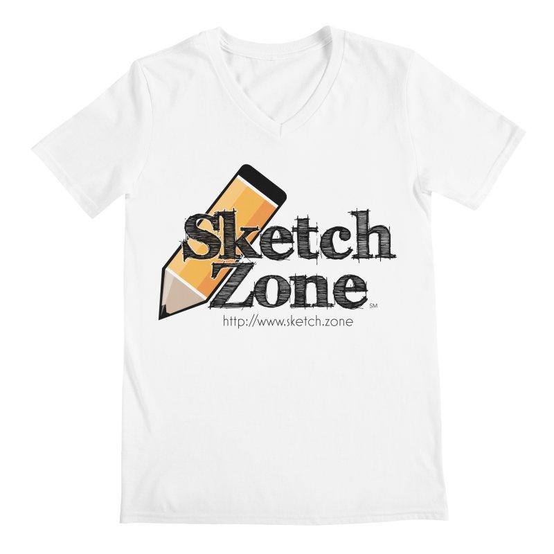 Throwback Sketch Zone Logo Men's V-Neck by Coconut Justice's Artist Shop