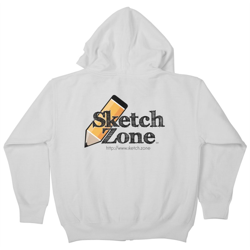 Throwback Sketch Zone Logo Kids Zip-Up Hoody by Coconut Justice's Artist Shop