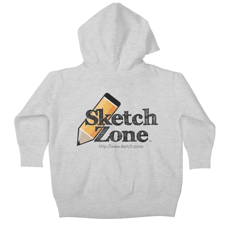 Throwback Sketch Zone Logo Kids Baby Zip-Up Hoody by Coconut Justice's Artist Shop