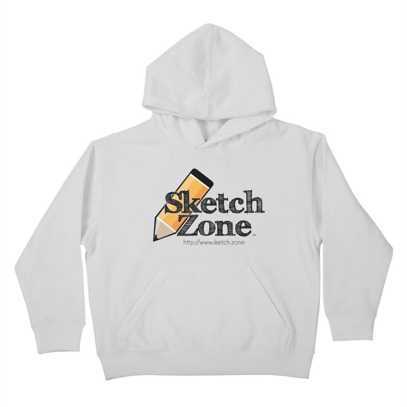 Throwback Sketch Zone Logo Kids Pullover Hoody by Coconut Justice's Artist Shop