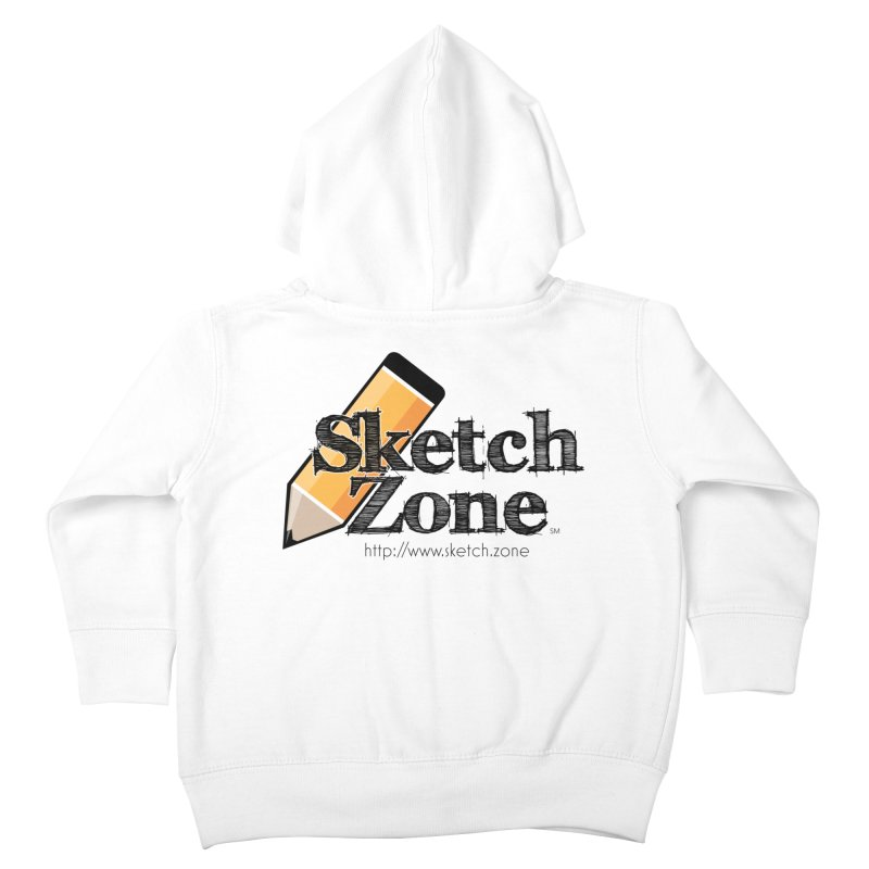 Throwback Sketch Zone Logo Kids Toddler Zip-Up Hoody by Coconut Justice's Artist Shop