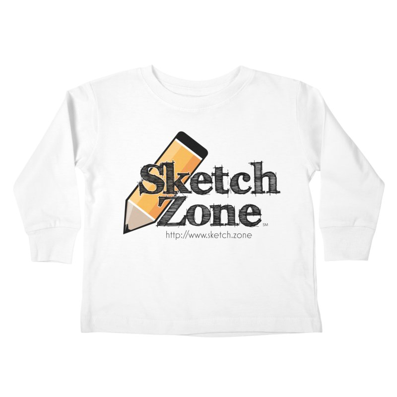 Throwback Sketch Zone Logo Kids Toddler Longsleeve T-Shirt by Coconut Justice's Artist Shop