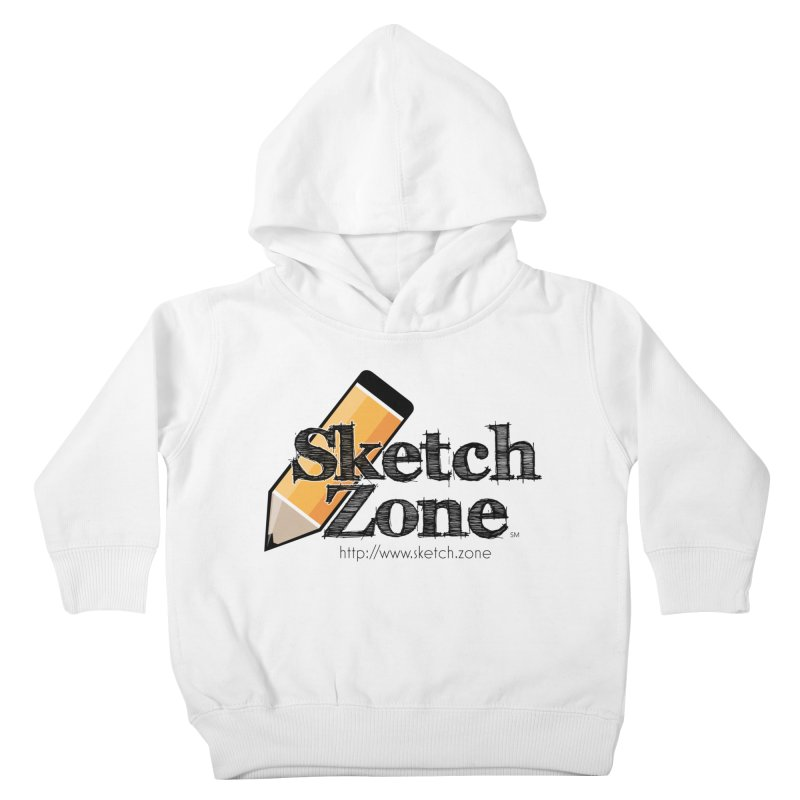 Throwback Sketch Zone Logo Kids Toddler Pullover Hoody by Coconut Justice's Artist Shop