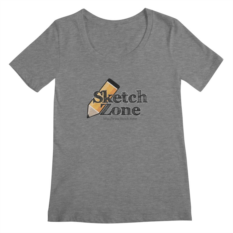 Throwback Sketch Zone Logo Women's Scoopneck by Coconut Justice's Artist Shop