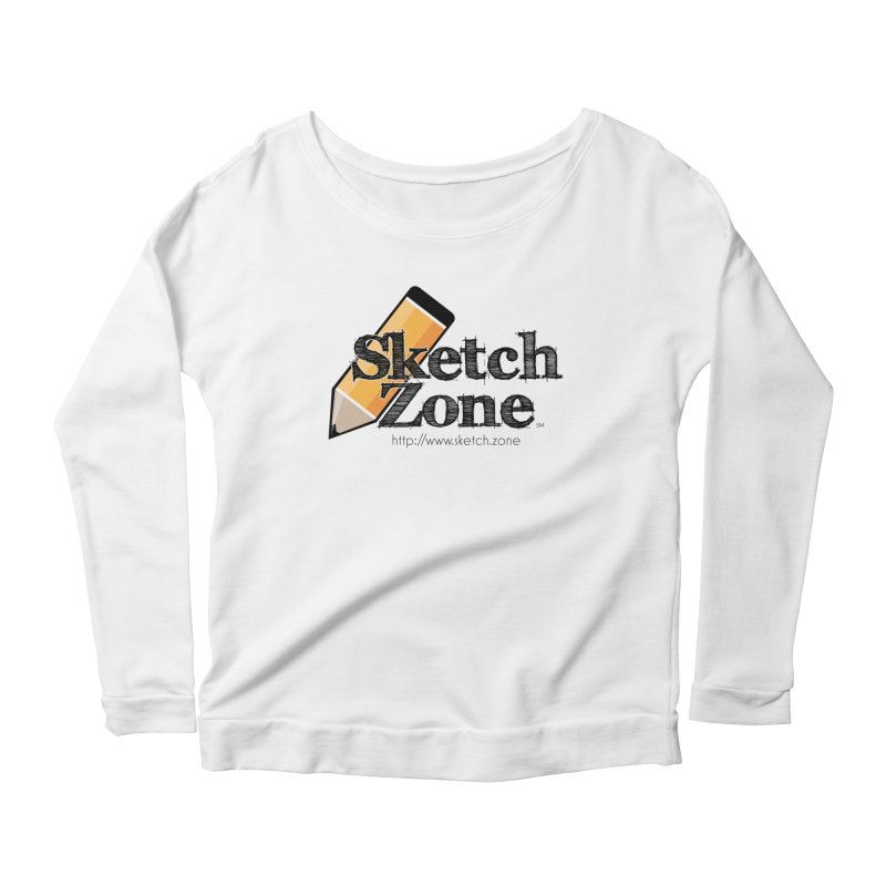 Throwback Sketch Zone Logo Women's Scoop Neck Longsleeve T-Shirt by Coconut Justice's Artist Shop