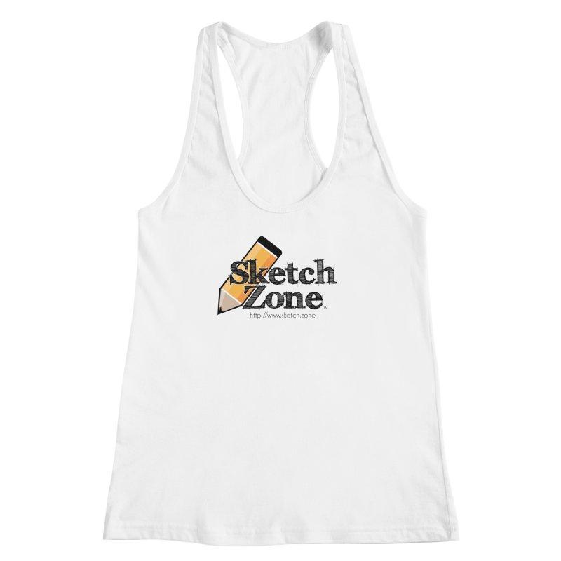 Throwback Sketch Zone Logo Women's Racerback Tank by Coconut Justice's Artist Shop