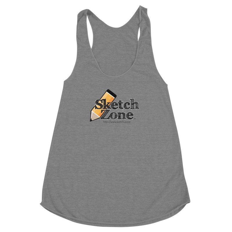 Throwback Sketch Zone Logo Women's Racerback Triblend Tank by Coconut Justice's Artist Shop