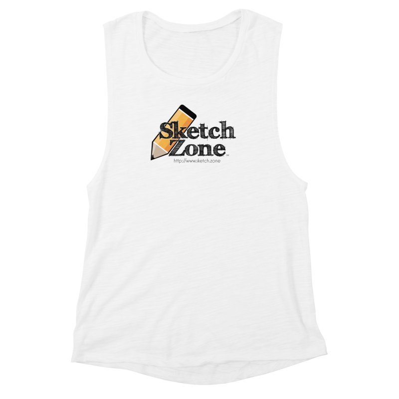 Throwback Sketch Zone Logo Women's Muscle Tank by Coconut Justice's Artist Shop