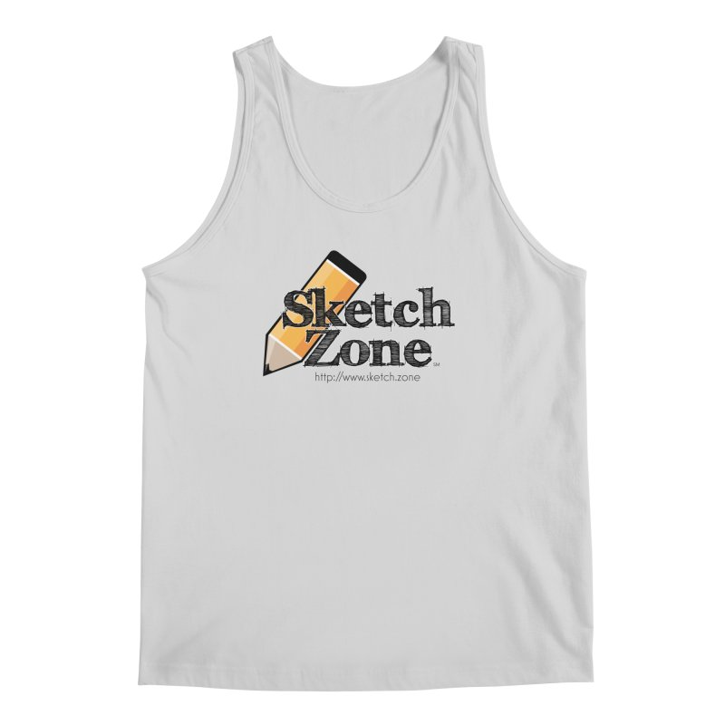 Throwback Sketch Zone Logo Men's Tank by Coconut Justice's Artist Shop