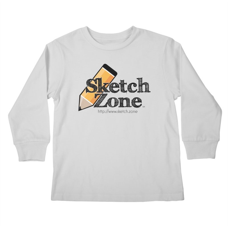 Throwback Sketch Zone Logo Kids Longsleeve T-Shirt by Coconut Justice's Artist Shop