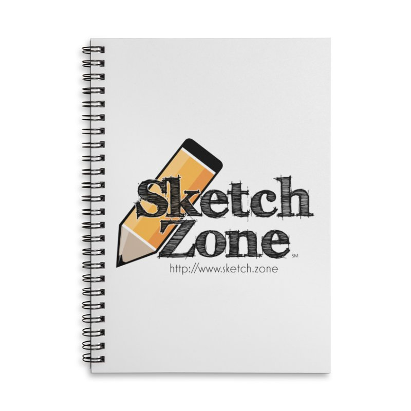 Throwback Sketch Zone Logo Accessories Lined Spiral Notebook by Coconut Justice's Artist Shop