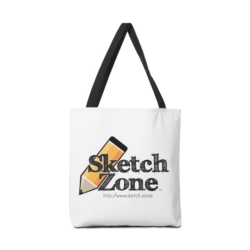 Throwback Sketch Zone Logo Accessories Bag by Coconut Justice's Artist Shop