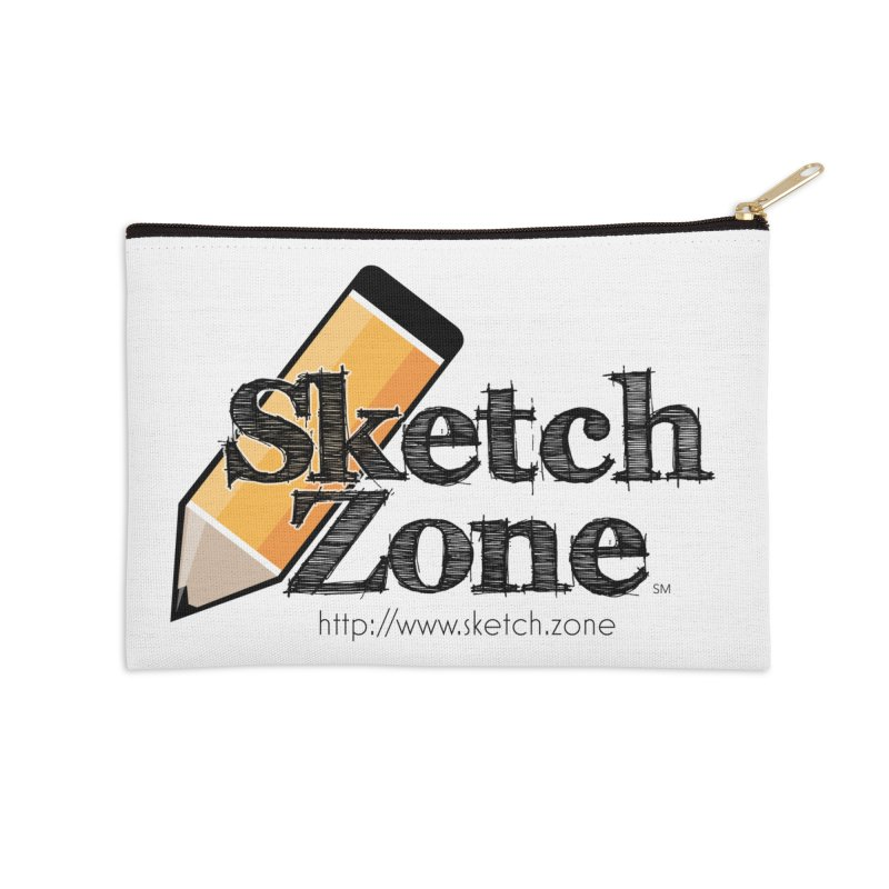 Throwback Sketch Zone Logo Accessories Zip Pouch by Coconut Justice's Artist Shop