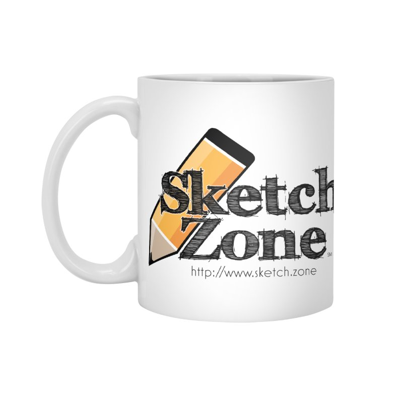Throwback Sketch Zone Logo Accessories Mug by Coconut Justice's Artist Shop
