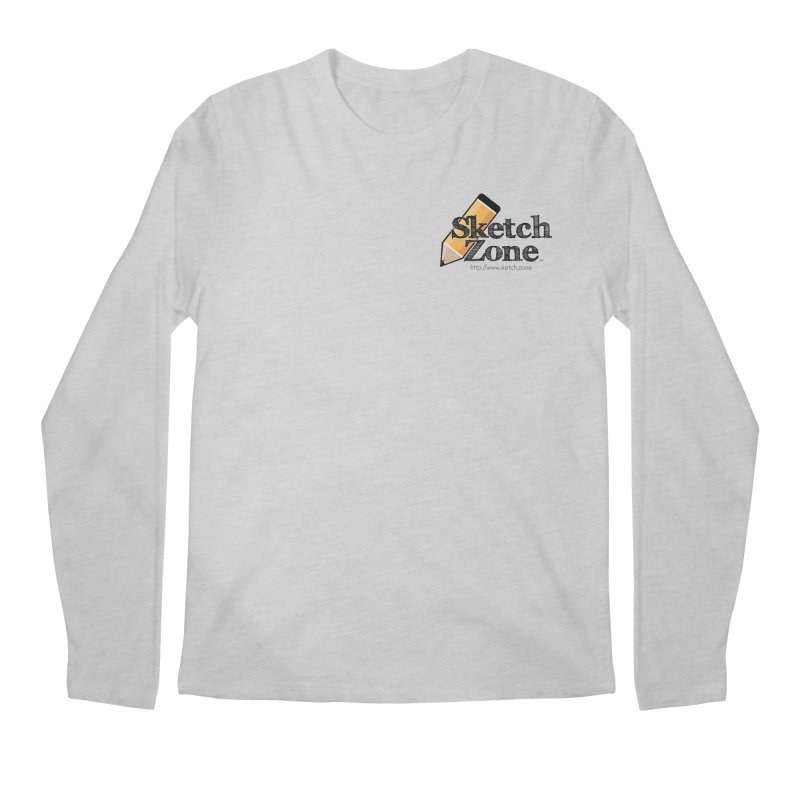Throwback Sketch Zone Logo - Small Logo Men's Longsleeve T-Shirt by Coconut Justice's Artist Shop
