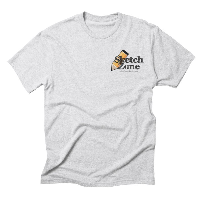 Throwback Sketch Zone Logo - Small Logo Men's Triblend T-shirt by Coconut Justice's Artist Shop
