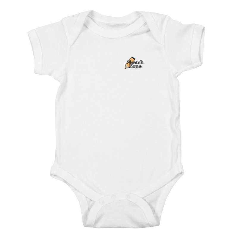 Throwback Sketch Zone Logo - Small Logo Kids Baby Bodysuit by Coconut Justice's Artist Shop