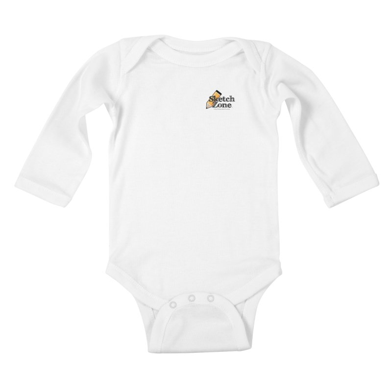 Throwback Sketch Zone Logo - Small Logo Kids Baby Longsleeve Bodysuit by Coconut Justice's Artist Shop
