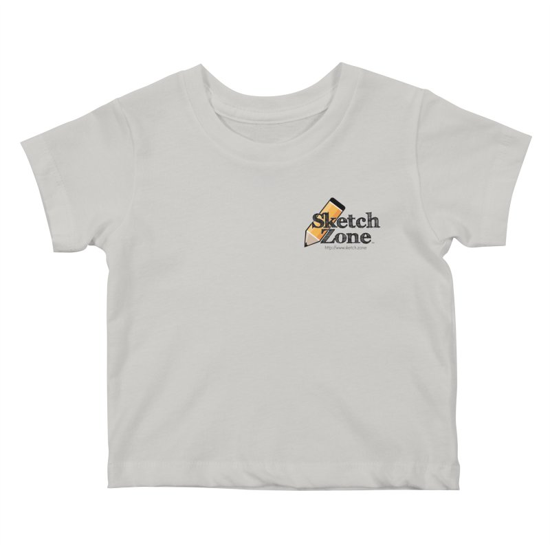 Throwback Sketch Zone Logo - Small Logo Kids Baby T-Shirt by Coconut Justice's Artist Shop