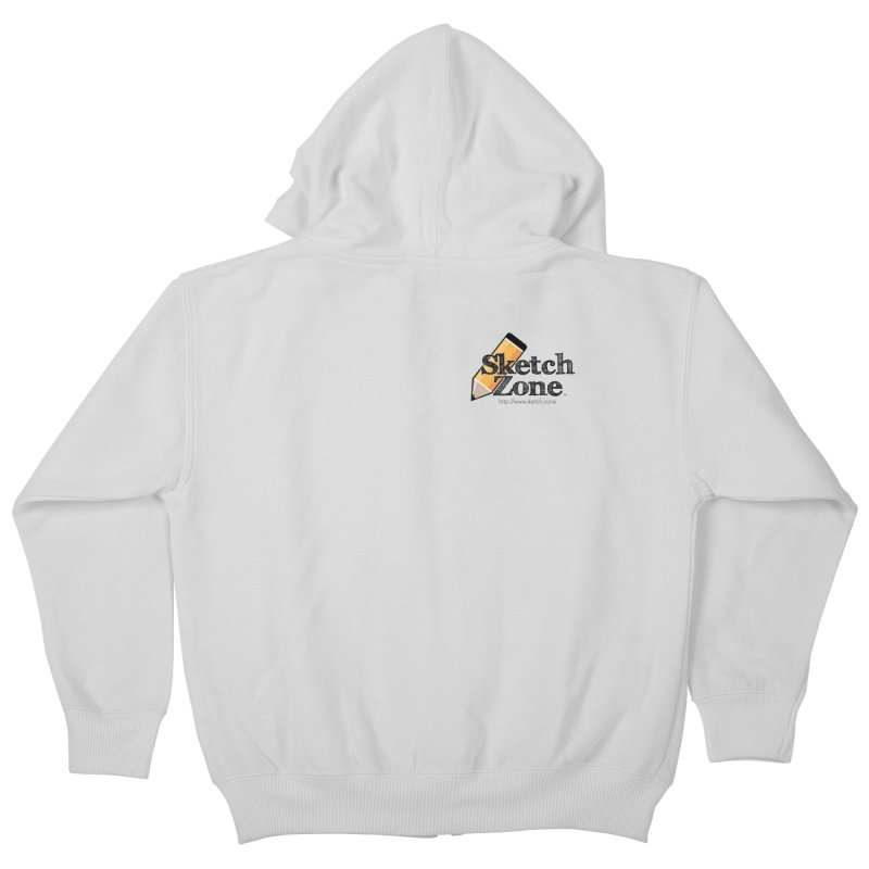 Throwback Sketch Zone Logo - Small Logo Kids Zip-Up Hoody by Coconut Justice's Artist Shop