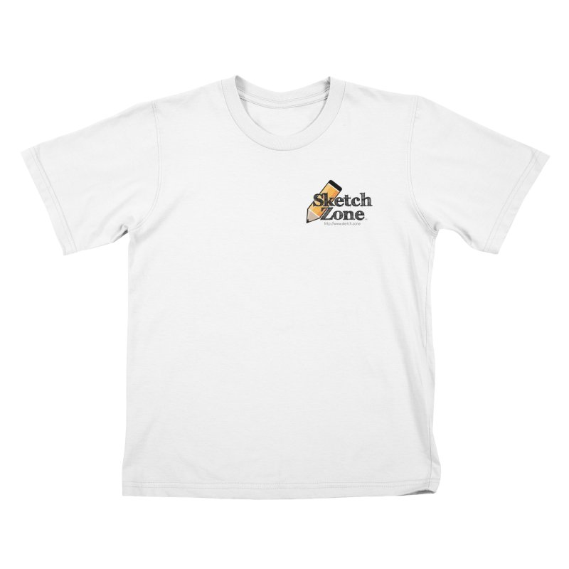 Throwback Sketch Zone Logo - Small Logo Kids T-shirt by Coconut Justice's Artist Shop