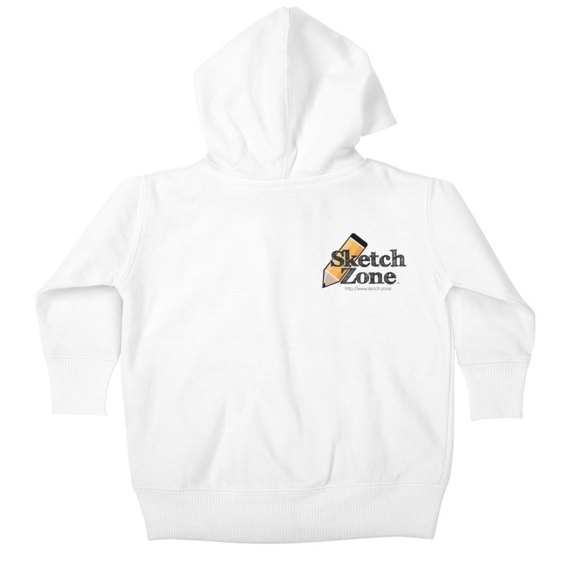 Throwback Sketch Zone Logo - Small Logo Kids Baby Zip-Up Hoody by Coconut Justice's Artist Shop