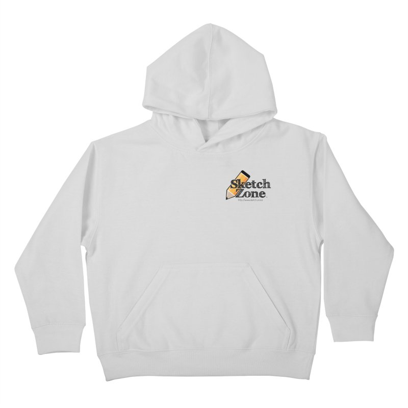 Throwback Sketch Zone Logo - Small Logo Kids Pullover Hoody by Coconut Justice's Artist Shop
