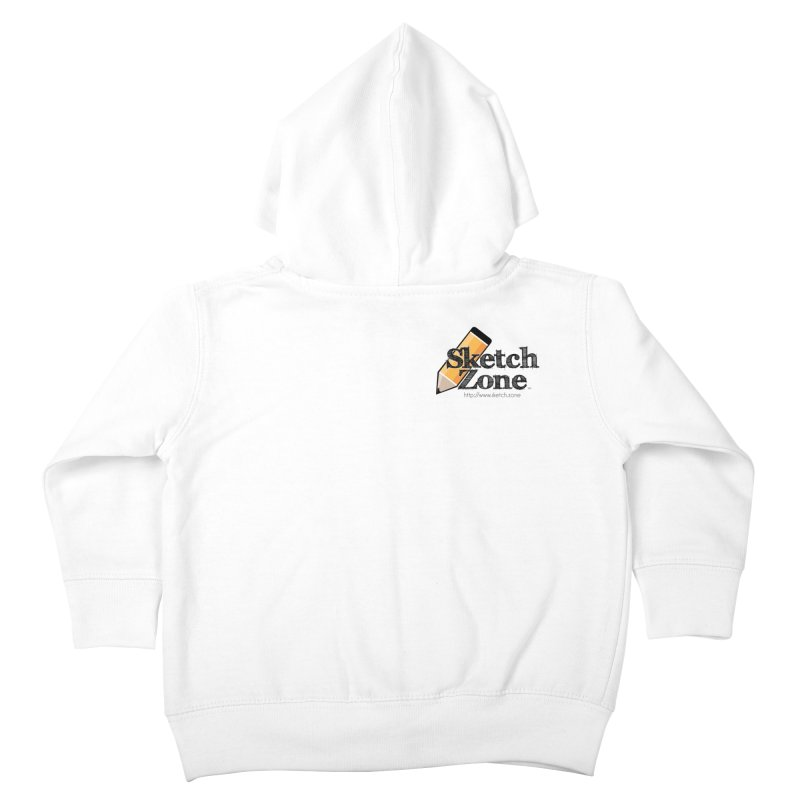 Throwback Sketch Zone Logo - Small Logo Kids Toddler Zip-Up Hoody by Coconut Justice's Artist Shop