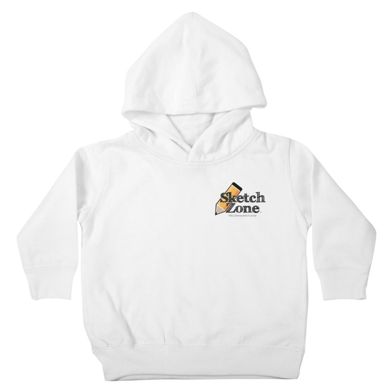 Throwback Sketch Zone Logo - Small Logo Kids Toddler Pullover Hoody by Coconut Justice's Artist Shop