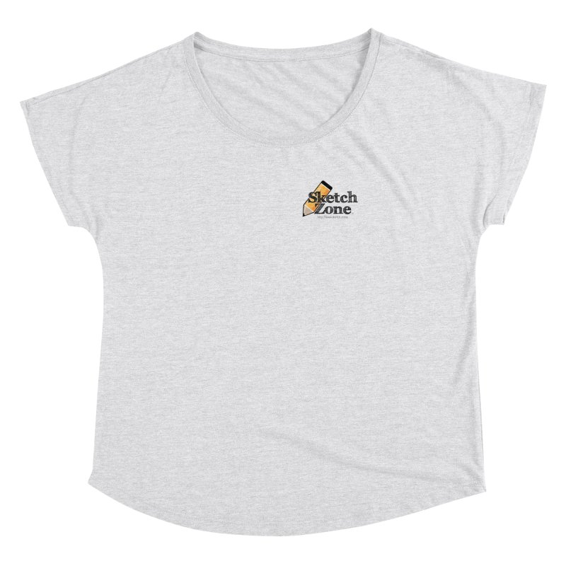 Throwback Sketch Zone Logo - Small Logo Women's Dolman by Coconut Justice's Artist Shop