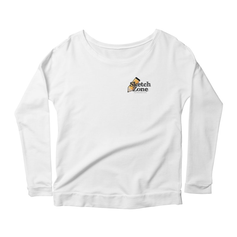 Throwback Sketch Zone Logo - Small Logo Women's Scoop Neck Longsleeve T-Shirt by Coconut Justice's Artist Shop