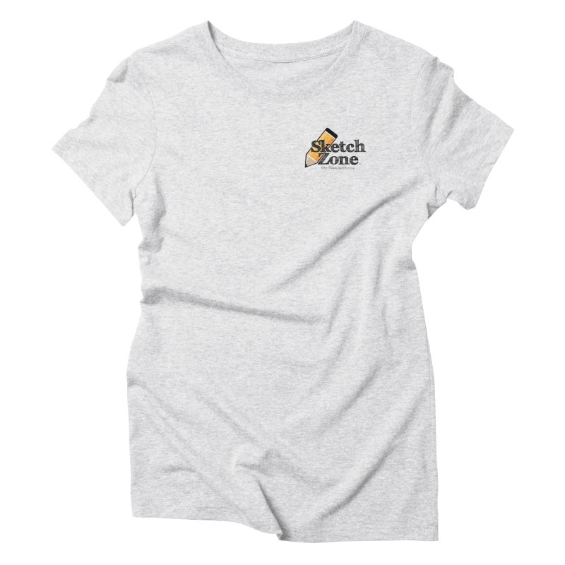 Throwback Sketch Zone Logo - Small Logo Women's Triblend T-shirt by Coconut Justice's Artist Shop