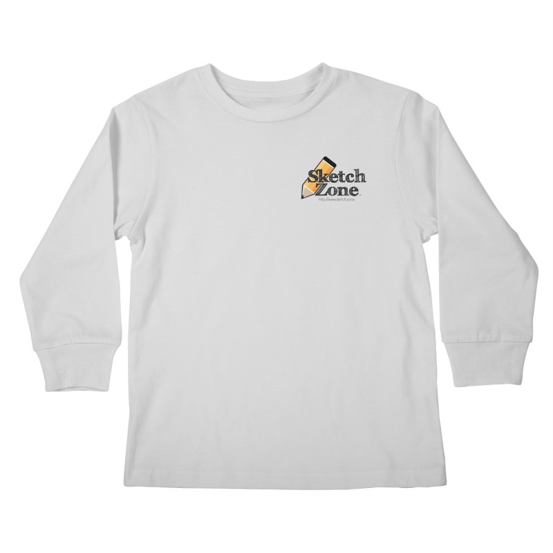 Throwback Sketch Zone Logo - Small Logo Kids Longsleeve T-Shirt by Coconut Justice's Artist Shop