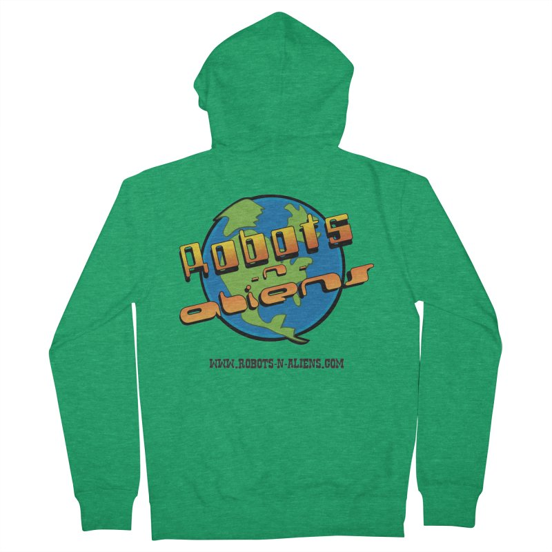 Robots 'n Aliens Big Logo Men's Zip-Up Hoody by Coconut Justice's Artist Shop