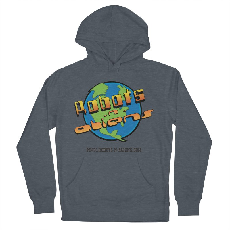 Robots 'n Aliens Big Logo Women's French Terry Pullover Hoody by Coconut Justice's Artist Shop