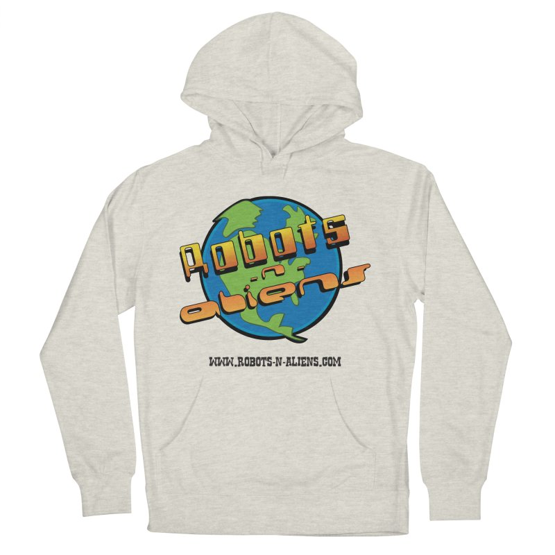 Robots 'n Aliens Big Logo Women's Pullover Hoody by Coconut Justice's Artist Shop