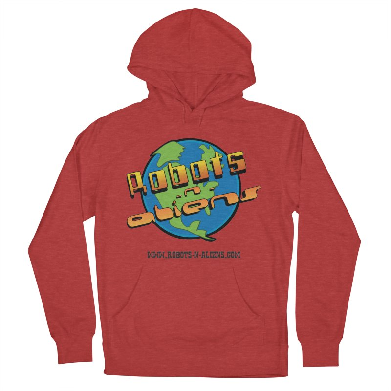 Robots 'n Aliens Big Logo Men's French Terry Pullover Hoody by Coconut Justice's Artist Shop
