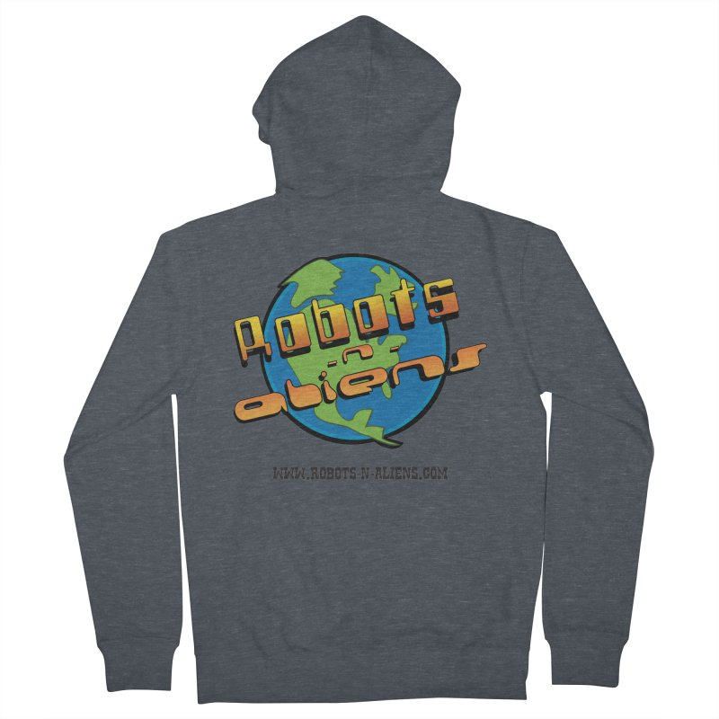 Robots 'n Aliens Big Logo Women's French Terry Zip-Up Hoody by Coconut Justice's Artist Shop