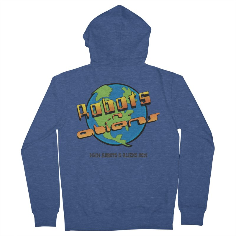 Robots 'n Aliens Big Logo Men's Zip-Up Hoody by Coconut Justice's Artist Shop