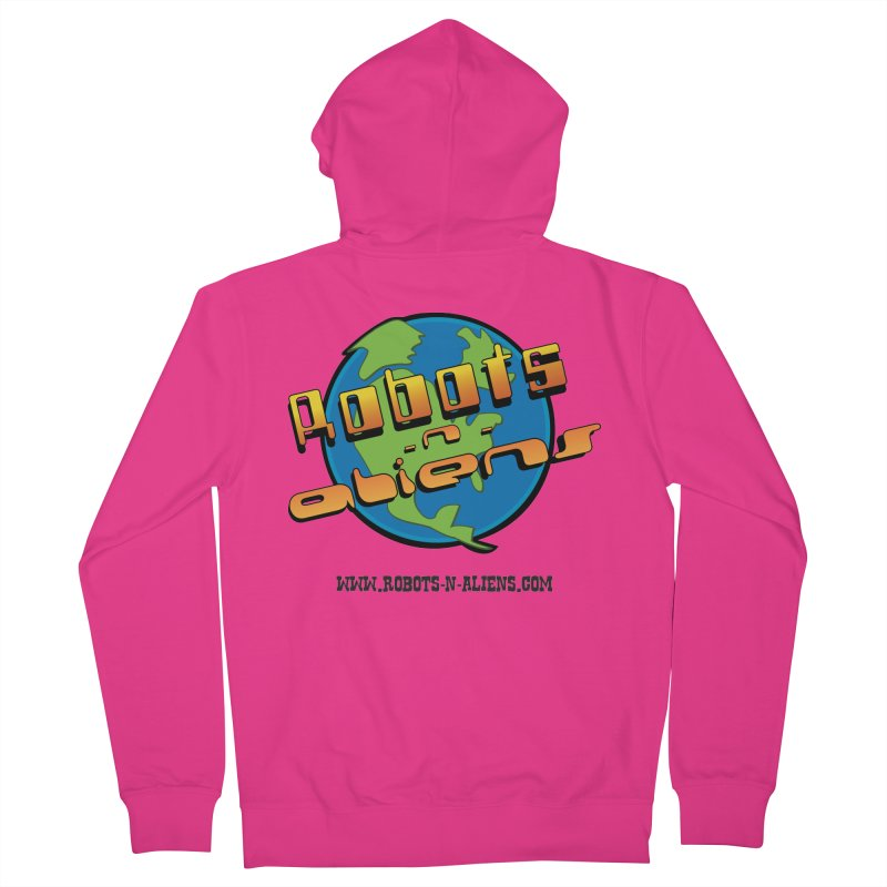 Robots 'n Aliens Big Logo Men's French Terry Zip-Up Hoody by Coconut Justice's Artist Shop