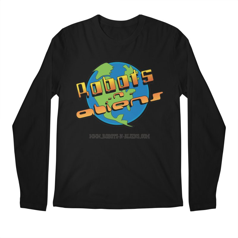 Robots 'n Aliens Big Logo Men's Regular Longsleeve T-Shirt by Coconut Justice's Artist Shop