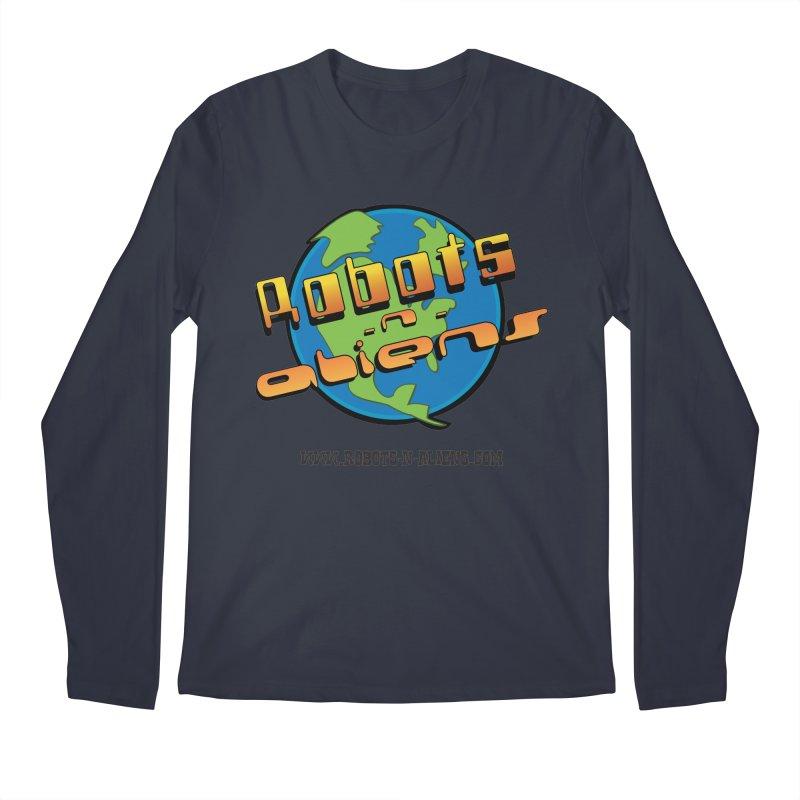 Robots 'n Aliens Big Logo Men's Regular Longsleeve T-Shirt by Coconut Justice's Artist Shop