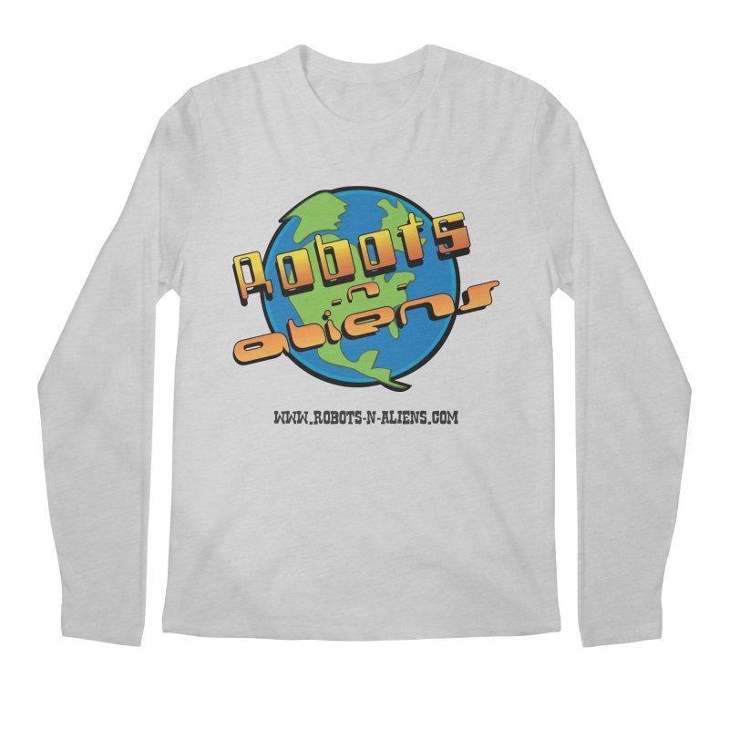 Robots 'n Aliens Big Logo Men's Longsleeve T-Shirt by Coconut Justice's Artist Shop