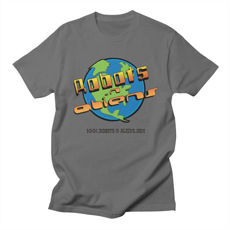 Robots 'n Aliens Big Logo Men's T-Shirt by Coconut Justice's Artist Shop