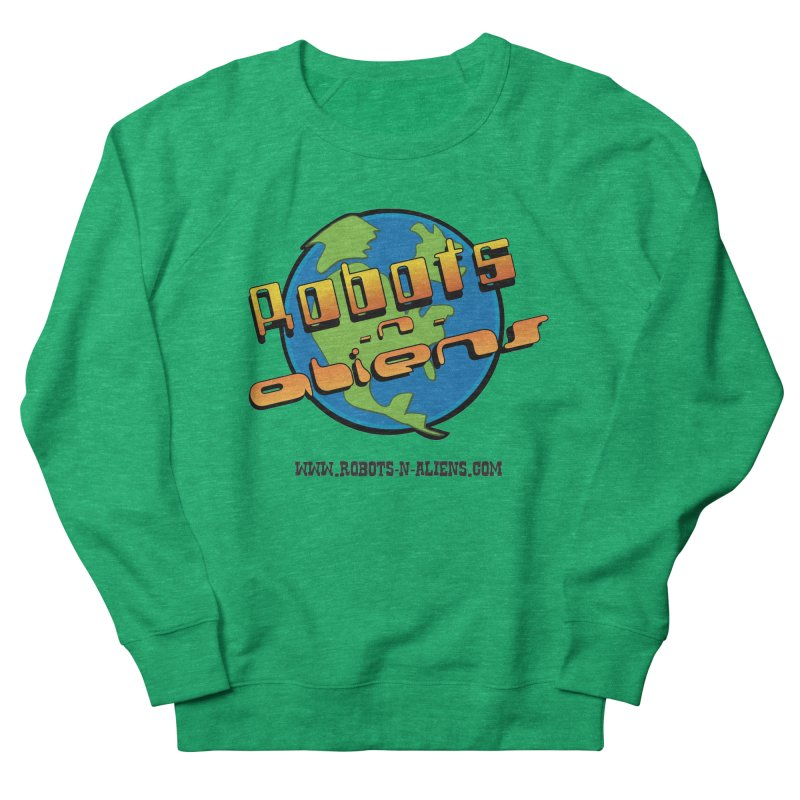 Robots 'n Aliens Big Logo Women's Sweatshirt by Coconut Justice's Artist Shop