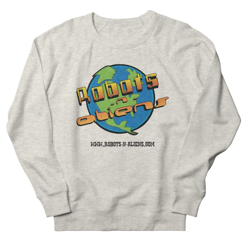Robots 'n Aliens Big Logo Women's French Terry Sweatshirt by Coconut Justice's Artist Shop