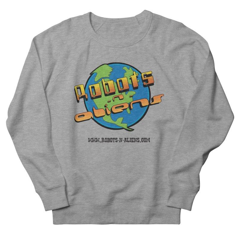 Robots 'n Aliens Big Logo Men's Sweatshirt by Coconut Justice's Artist Shop