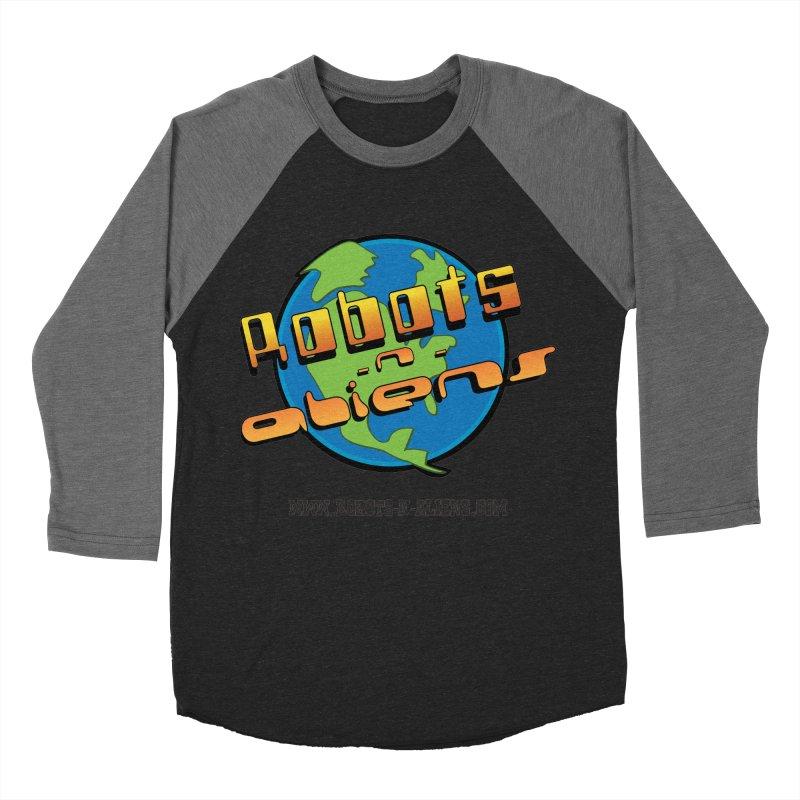 Robots 'n Aliens Big Logo Women's Baseball Triblend T-Shirt by Coconut Justice's Artist Shop