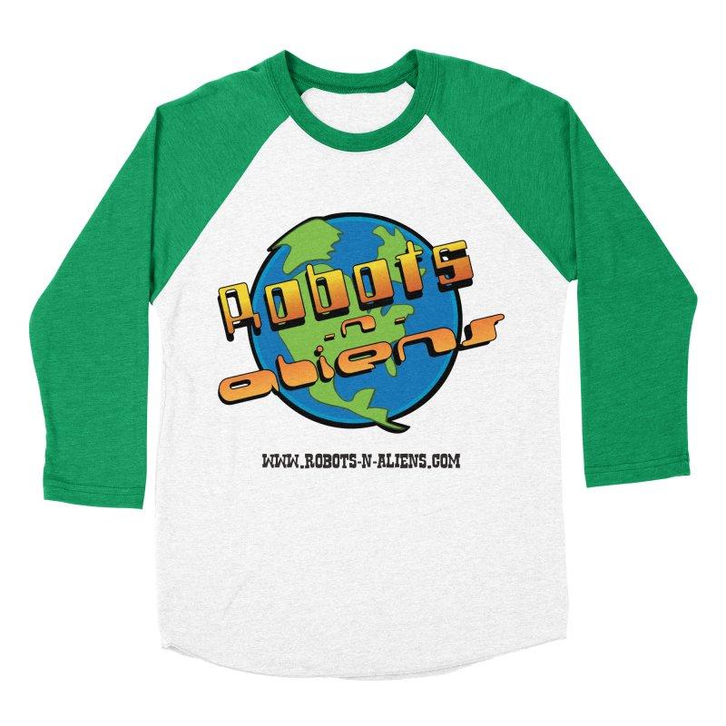 Robots 'n Aliens Big Logo Men's Baseball Triblend T-Shirt by Coconut Justice's Artist Shop